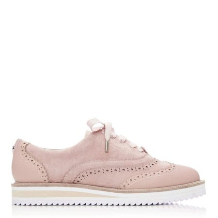 Brogues And Loafers | Moda in Pelle Womens Fellis Nude Suede Nude