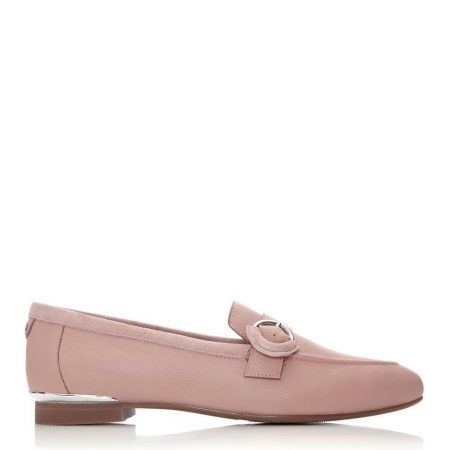 Brogues And Loafers | Moda in Pelle Womens Fina Nude Leather Nude