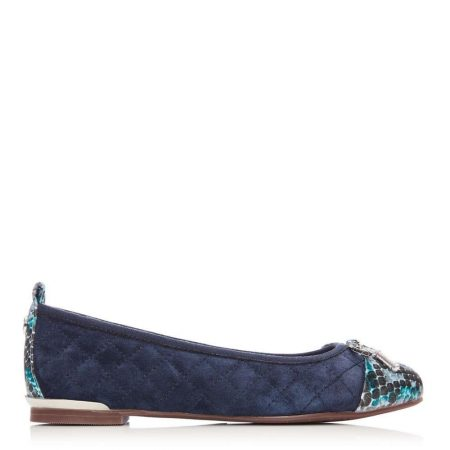 Brogues And Loafers | Moda in Pelle Womens Follo Navy Suede Navy