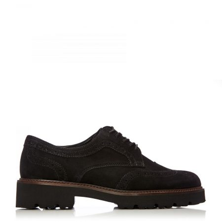 Brogues And Loafers | Moda in Pelle Womens G Sweep Black Suede Sweep