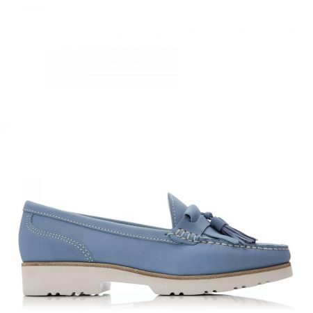 Brogues And Loafers | Moda in Pelle Womens Sh Wyvern Blue Nubuck Wyvern
