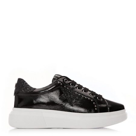 Casual Shoes And Trainers | Moda in Pelle Womens Aaliyah Black Patent Leather Black
