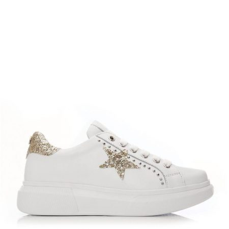 Casual Shoes And Trainers | Moda in Pelle Womens Aaliyah White-Gold Leather White-Gold