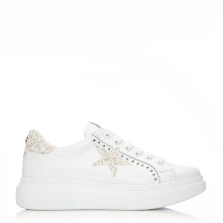 Casual Shoes And Trainers | Moda in Pelle Womens Aaliyah White Leather White