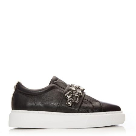Casual Shoes And Trainers   Moda in Pelle Womens Abelina Black Leather Black