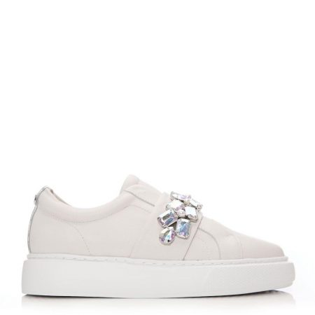 Casual Shoes And Trainers | Moda in Pelle Womens Abelina Off White Leather Off