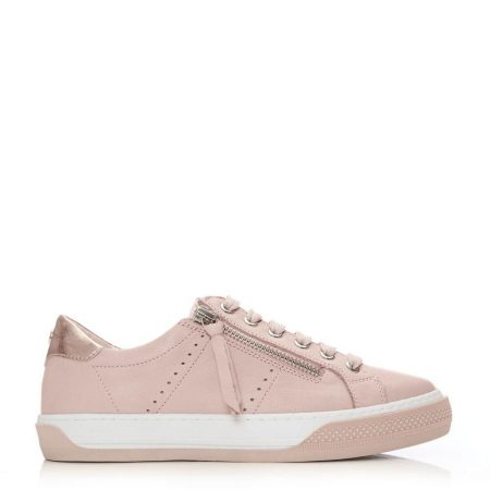 Casual Shoes And Trainers   Moda in Pelle Womens Abronna Nude Leather Nude