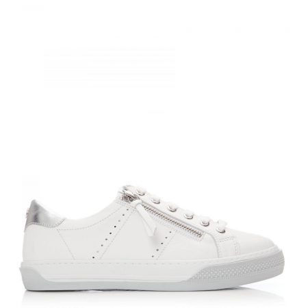 Casual Shoes And Trainers | Moda in Pelle Womens Abronna White – Grey Leather White