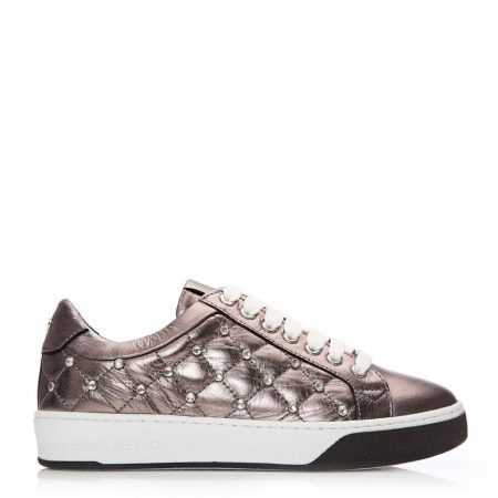 Casual Shoes And Trainers   Moda in Pelle Womens Adelaid Pewter Leather Pewter