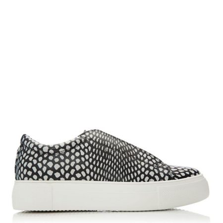 Casual Shoes And Trainers | Moda in Pelle Womens Agora Black-White Porvair Black-White