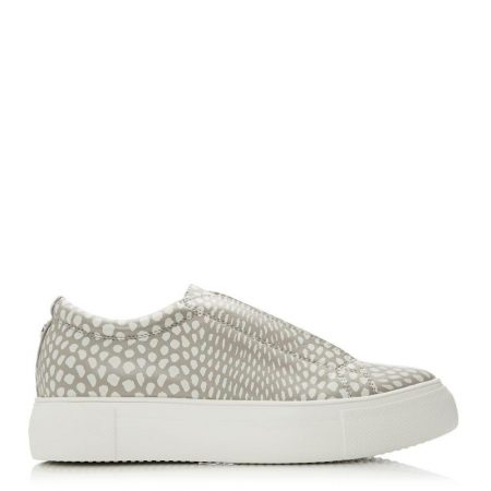 Casual Shoes And Trainers | Moda in Pelle Womens Agora Stone Porvair Stone
