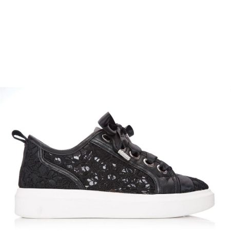 Casual Shoes And Trainers   Moda in Pelle Womens Alacey Black Textile Black