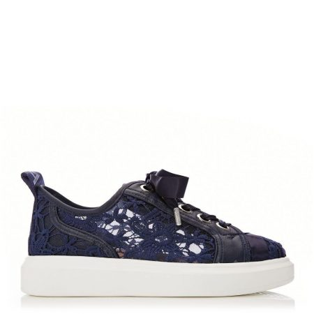 Casual Shoes And Trainers   Moda in Pelle Womens Alacey Navy Textile Navy