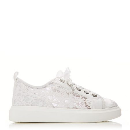 Casual Shoes And Trainers   Moda in Pelle Womens Alacey White Textile White