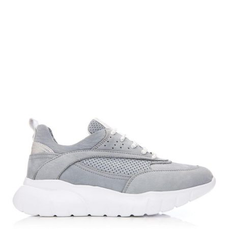Casual Shoes And Trainers | Moda in Pelle Womens Alarisia Grey Nubuck Grey