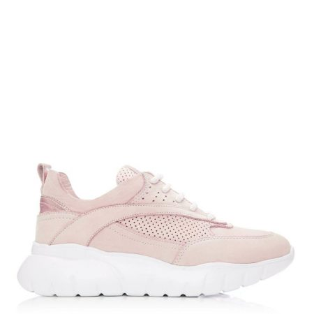 Casual Shoes And Trainers | Moda in Pelle Womens Alarisia Nude Nubuck Nude