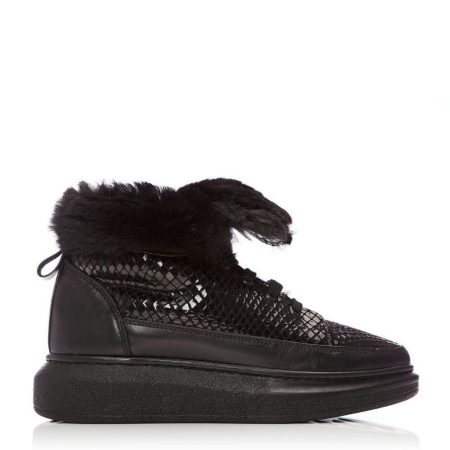Casual Shoes And Trainers | Moda in Pelle Womens Alasta Black Lizard Black
