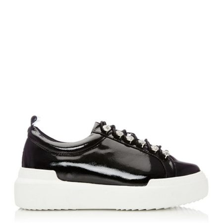 Casual Shoes And Trainers | Moda in Pelle Womens Alejandra Black Patent Leather Black