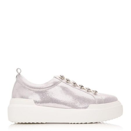Casual Shoes And Trainers | Moda in Pelle Womens Alejandra Rose Gold Lizard Rose