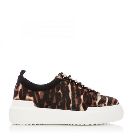 Casual Shoes And Trainers | Moda in Pelle Womens Alejandra Tiger Textured Animal Print Tiger