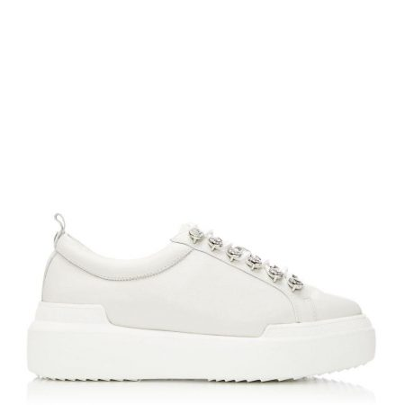 Casual Shoes And Trainers | Moda in Pelle Womens Alejandra White Leather White