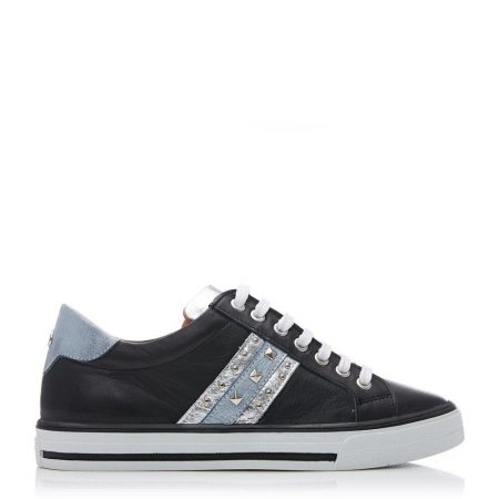 Casual Shoes And Trainers | Moda in Pelle Womens Alfina Black Leather Black