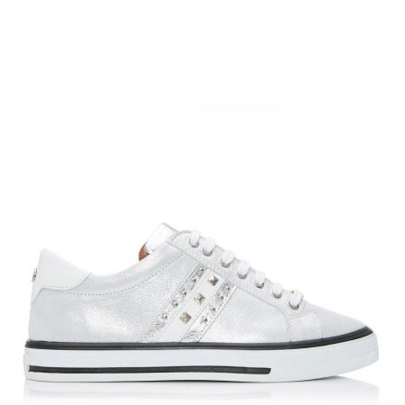 Casual Shoes And Trainers | Moda in Pelle Womens Alfina Silver Leather Silver