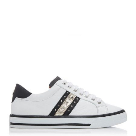 Casual Shoes And Trainers | Moda in Pelle Womens Alfina White Leather White