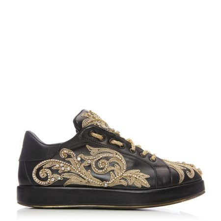 Casual Shoes And Trainers | Moda in Pelle Womens Anotti Black Leather Black