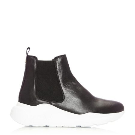 Casual Shoes And Trainers | Moda in Pelle Womens Aralia Black Leather Black