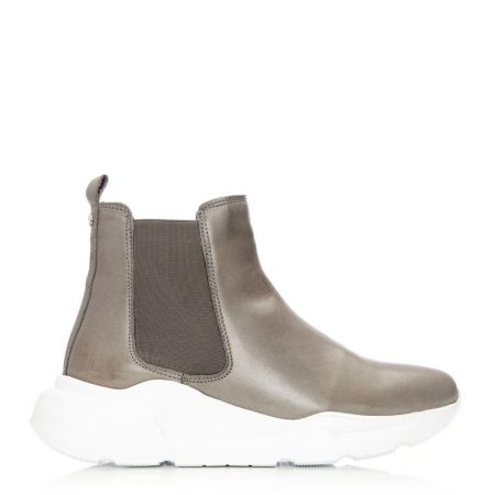 Casual Shoes And Trainers   Moda in Pelle Womens Aralia Grey Leather Grey