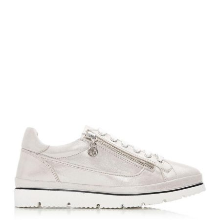 Casual Shoes And Trainers   Moda in Pelle Womens Ariela Rose Gold Metallic Leather Rose