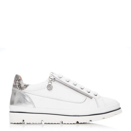 Casual Shoes And Trainers | Moda in Pelle Womens Ariela White Leather White