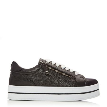 Casual Shoes And Trainers | Moda in Pelle Womens Arixo Black Leather Black