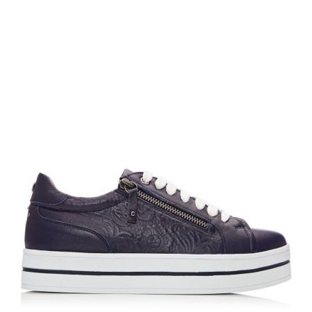 Casual Shoes And Trainers | Moda in Pelle Womens Arixo Navy Leather Navy