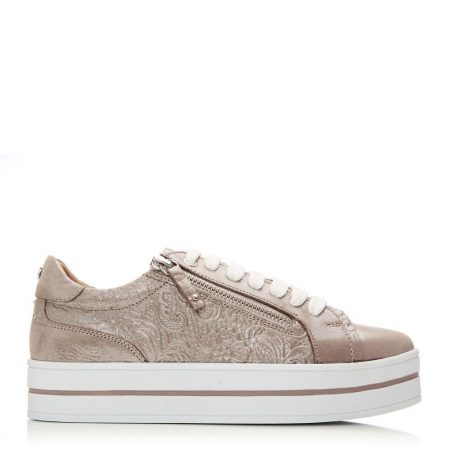 Casual Shoes And Trainers | Moda in Pelle Womens Arixo Rose Gold Metallic Leather Rose