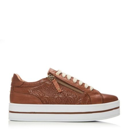 Casual Shoes And Trainers   Moda in Pelle Womens Arixo Tan Leather Tan