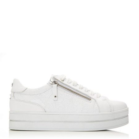 Casual Shoes And Trainers | Moda in Pelle Womens Arixo White Leather White