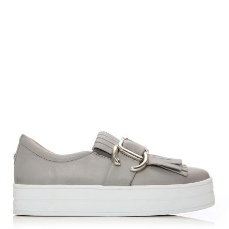 Casual Shoes And Trainers | Moda in Pelle Womens Arlenne Light Grey Leather Light