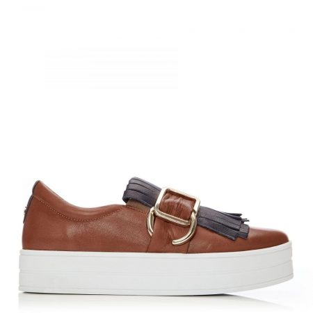 Casual Shoes And Trainers | Moda in Pelle Womens Arlenne Navy-Tan Leather Navy-Tan