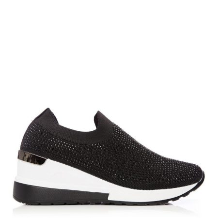 Casual Shoes And Trainers   Moda in Pelle Womens Arolia Black Textile Black
