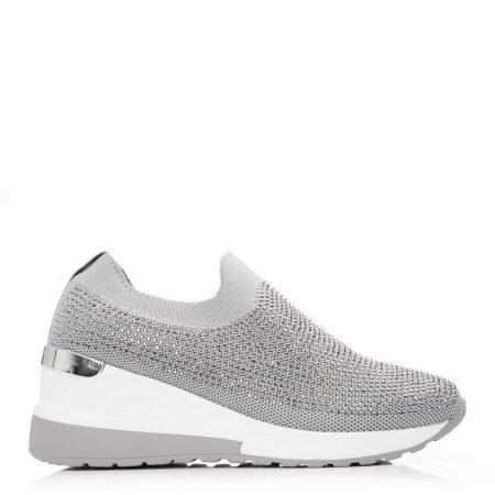 Casual Shoes And Trainers   Moda in Pelle Womens Arolia Grey Textile Grey