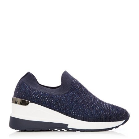 Casual Shoes And Trainers   Moda in Pelle Womens Arolia Navy Textile Navy