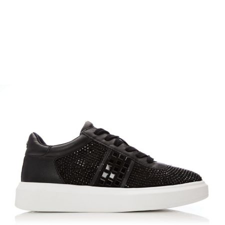 Casual Shoes And Trainers | Moda in Pelle Womens Aster Black Porvair Black
