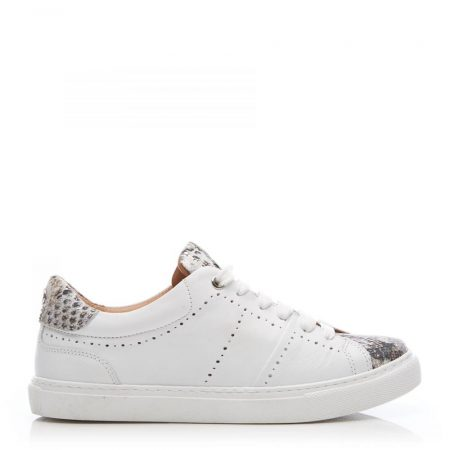 Casual Shoes And Trainers   Moda in Pelle Womens Astina White – Snake Leather White