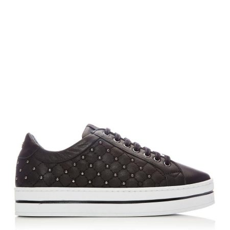 Casual Shoes And Trainers   Moda in Pelle Womens Aubree Black Leather Black