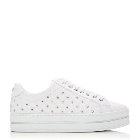 Casual Shoes And Trainers   Moda in Pelle Womens Aubree White Leather White