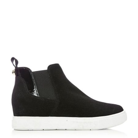 Casual Shoes And Trainers   Moda in Pelle Womens Avah Black Suede Black