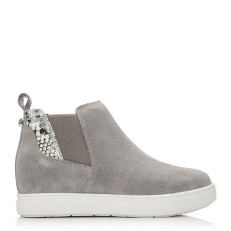 Casual Shoes And Trainers | Moda in Pelle Womens Avah Light Grey Suede Light
