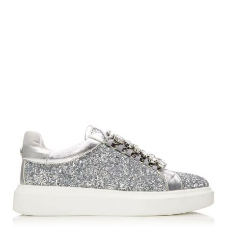 Casual Shoes And Trainers   Moda in Pelle Womens Averie Silver Glitter Silver